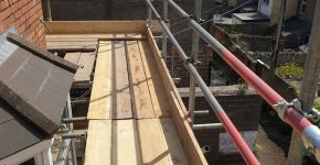 Scaffolding erection roof top