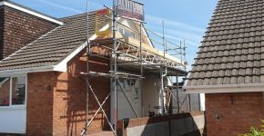 Residential bungalow scaffolding